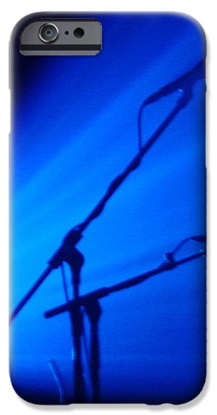 Sax in Blue iPhone Case by Anthony Citro