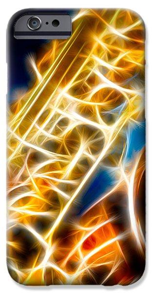 Saxophone 2 iPhone Case by Hakon Soreide