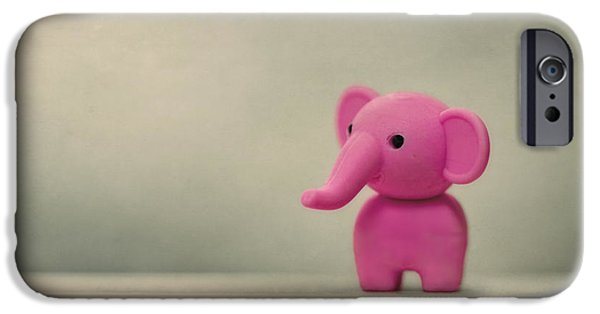 Elephants Photographs iPhone Cases - Say Hello To My Little Friend iPhone Case by Evelina Kremsdorf
