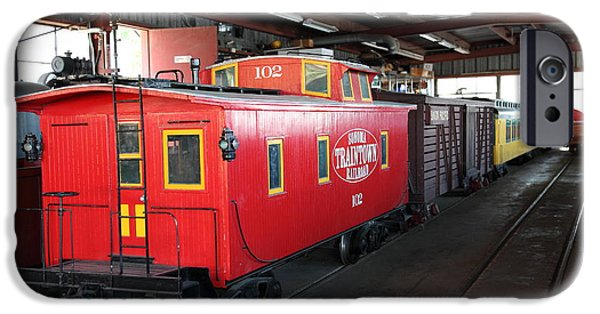 Train Town iPhone Cases - Scale Caboose - Traintown Sonoma California - 5D19240 iPhone Case by Wingsdomain Art and Photography