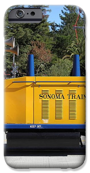 Scale Locomotive - Traintown Sonoma California - 5D19237 iPhone Case by Wingsdomain Art and Photography