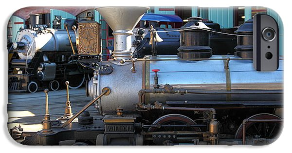 Train Town iPhone Cases - Scale Steam Locomotives - Traintown Sonoma California - 5D19200 iPhone Case by Wingsdomain Art and Photography