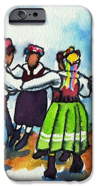 Scandinavian Dancers iPhone Case by Kathy Braud