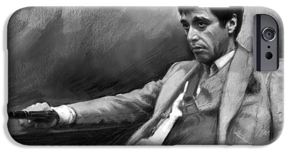 Al Pacino iPhone Cases - Scarface 2 iPhone Case by Ylli Haruni