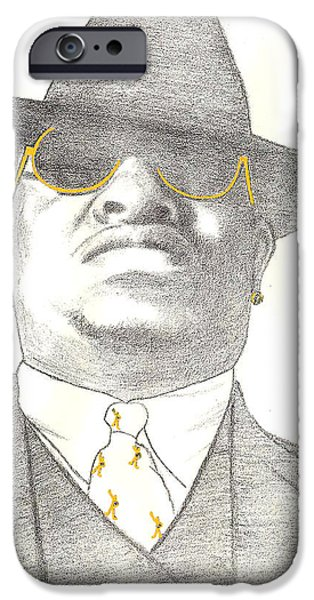Ghetto Drawings iPhone Cases - Scarface iPhone Case by Lee McCormick