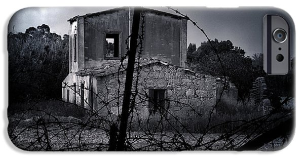 Haunted House iPhone Cases - Scary House iPhone Case by Stylianos Kleanthous