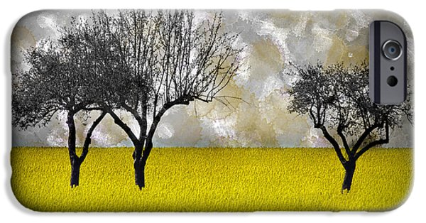 Rape iPhone Cases - Scenery-Art Landscape iPhone Case by Melanie Viola