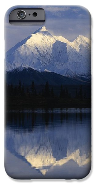 Snowy Brook iPhone Cases - Scenic Mountain Lake iPhone Case by Natural Selection Robert Cable