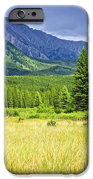 Scenic view in Canadian Rockies iPhone Case by Elena Elisseeva