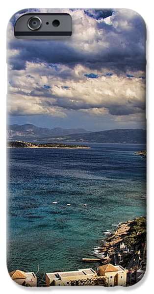 Scenic view of eastern Crete iPhone Case by David Smith