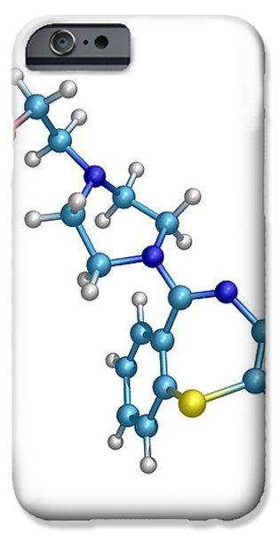 Schizophrenia Drug Molecule iPhone Case by Dr Tim Evans