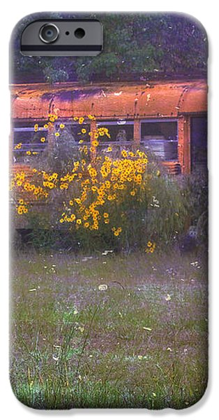 School Bus Out to Pasture iPhone Case by Judi Bagwell