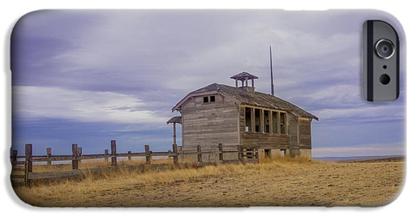 Abandoned School House. iPhone Cases - School House iPhone Case by Jean Noren