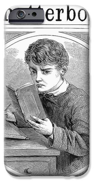 Schoolboy iPhone Cases - SCHOOLBOY, c1870 iPhone Case by Granger