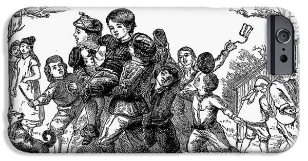 Schoolboy iPhone Cases - Schoolboys, 1873 iPhone Case by Granger