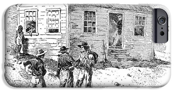 Destiny iPhone Cases - Schoolhouse, 1848 iPhone Case by Granger