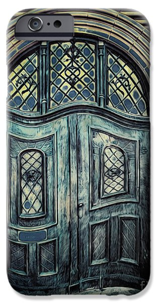 Schoolhouse Entrance iPhone Case by Jutta Maria Pusl