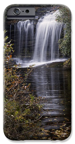 Autumn Photographs iPhone Cases - Schoolhouse Falls iPhone Case by Rob Travis