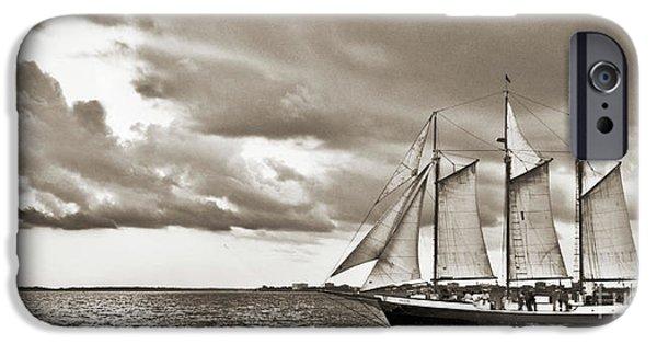 Tall Ship iPhone Cases - Schooner Pride Tallship Charleston SC iPhone Case by Dustin K Ryan