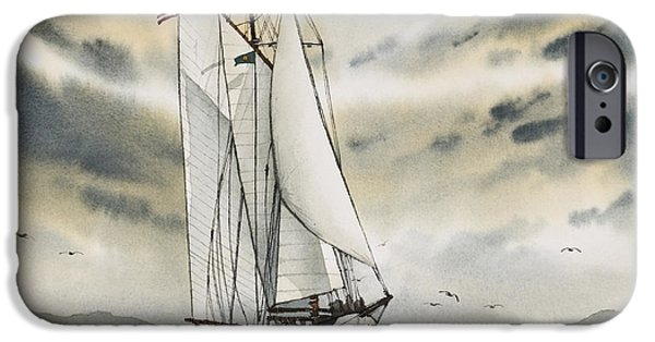 Tall Ship iPhone Cases - Schooner ZODIAC iPhone Case by James Williamson