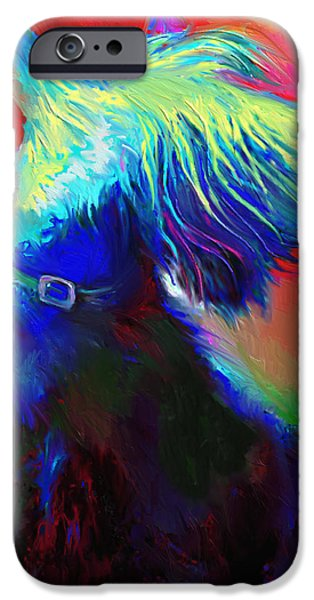 Dogs iPhone Cases - Scottish Terrier Dog painting iPhone Case by Svetlana Novikova