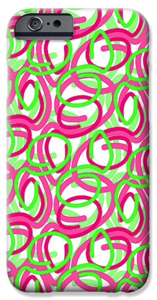 Scroll iPhone Case by Louisa Knight