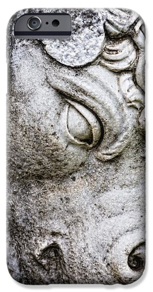 Sculpture Of Bull, Temples Of Apollo iPhone Case by Carson Ganci