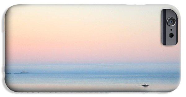 Norwegian Sunset iPhone Cases - Sea fog iPhone Case by Sonya Kanelstrand