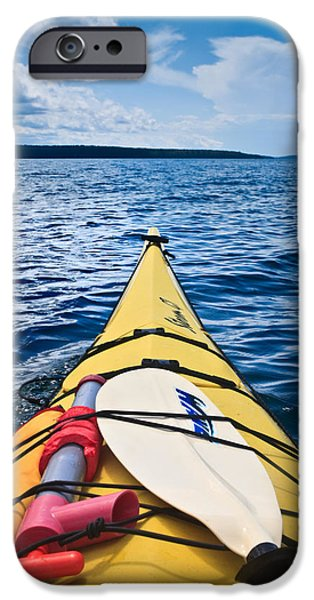 Kayak iPhone Cases - Sea Kayaking iPhone Case by Steve Gadomski