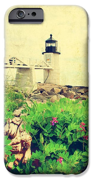 Old Maine Houses iPhone Cases - Sea Side iPhone Case by Darren Fisher