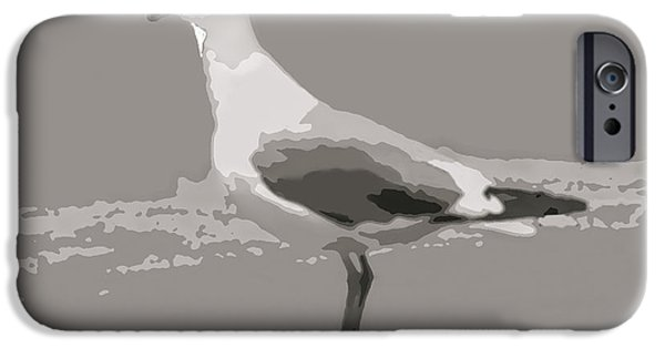 Flying Seagull Mixed Media iPhone Cases - Seagull iPhone Case by Debra     Vatalaro