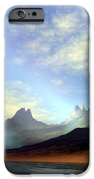 Seagulls Fly Near A Beautiful Island iPhone Case by Corey Ford