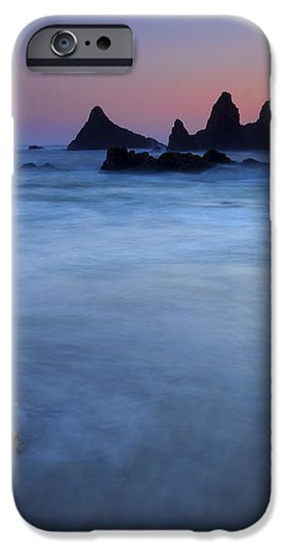 Seal Rock Dusk iPhone Case by Mike  Dawson