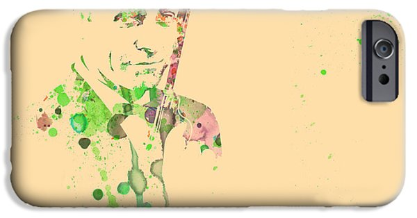 Actor Paintings iPhone Cases - Sean Connery iPhone Case by Naxart Studio