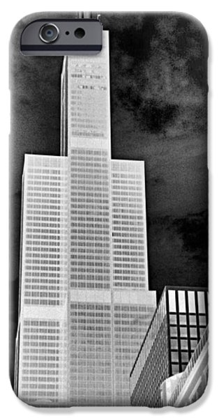 Sears Tower iPhone Cases - Sears Tower iPhone Case by Ely Arsha