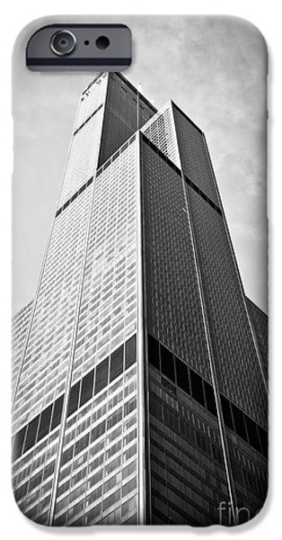 Sears Tower iPhone Cases - Sears-Willis Tower Chicago iPhone Case by Paul Velgos