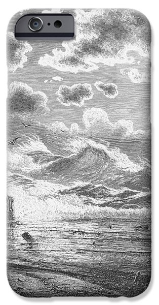 1871 iPhone Cases - Seascape, 1871 iPhone Case by Granger