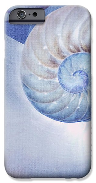SeaShell. Blue Version  iPhone Case by Jenny Rainbow