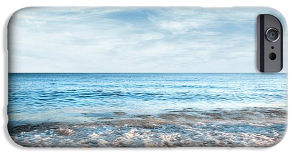 Solitude Photographs iPhone Cases - Seashore iPhone Case by Carlos Caetano