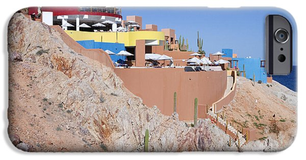 Baja iPhone Cases - Seaside Resort and Restaurant iPhone Case by Jeremy Woodhouse