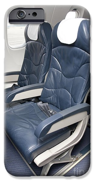 Airline Industry iPhone Cases - Seats on an Airliner iPhone Case by Jaak Nilson
