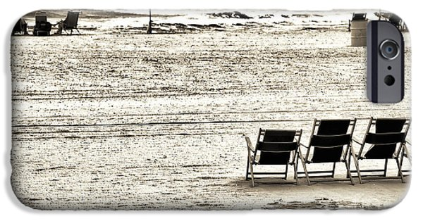 Seats On The Beach iPhone Case by John Rizzuto