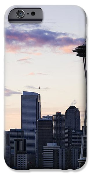 Seattle Skyline at Dusk iPhone Case by Jeremy Woodhouse