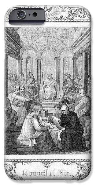SECOND COUNCIL OF NICAEA iPhone Case by Granger