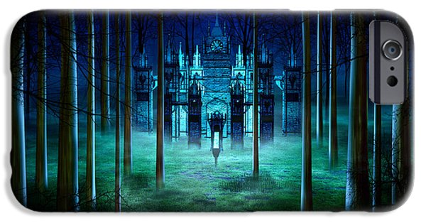 Fog Mist Mixed Media iPhone Cases - Secret Castle iPhone Case by Svetlana Sewell