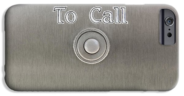 Built Structure iPhone Cases - Security Call Box With Call Button iPhone Case by Bryan Mullennix