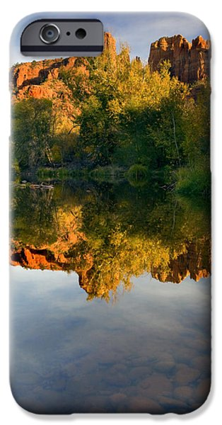 Reflections Photographs iPhone Cases - Sedona Sunset iPhone Case by Mike  Dawson