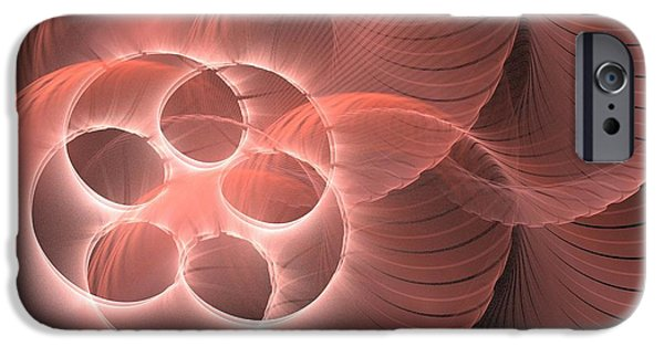 Abstract Rose Oval iPhone Cases - Selene iPhone Case by Kim Sy Ok