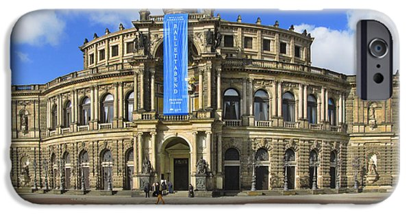 Concerts iPhone Cases - Semper Opera House - Semperoper Dresden iPhone Case by Christine Till