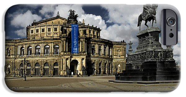 Concerts iPhone Cases - Semper Opera house Dresden - A beautiful sight iPhone Case by Christine Till